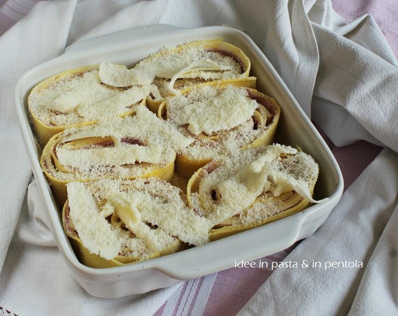 pasta al forno con prosciutto cotto e formaggio