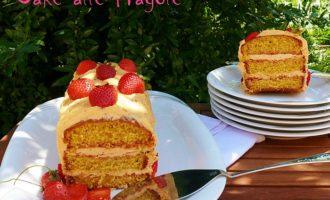 torta di fragole e crema al burro