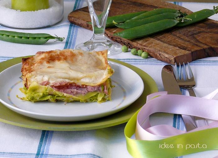 Lasagne Rosa e Verdi (con prosciutto e piselli)