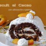 Biscuit al Cacao con Albicocche e Panna