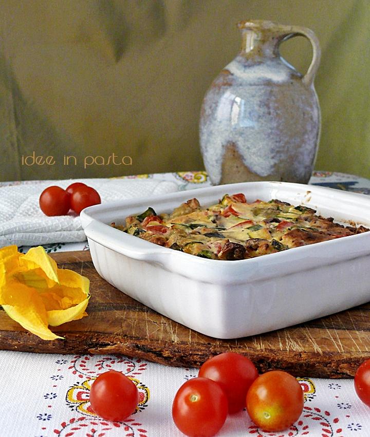 crepes lasagna con verdure e robiola