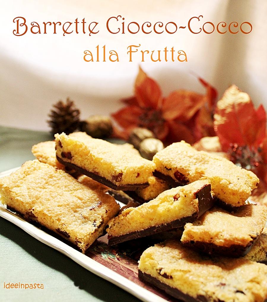 Idee Per Confezionare Biscotti Di Natale.Barrette Cioccolato E Cocco Alla Frutta Idee In Pasta