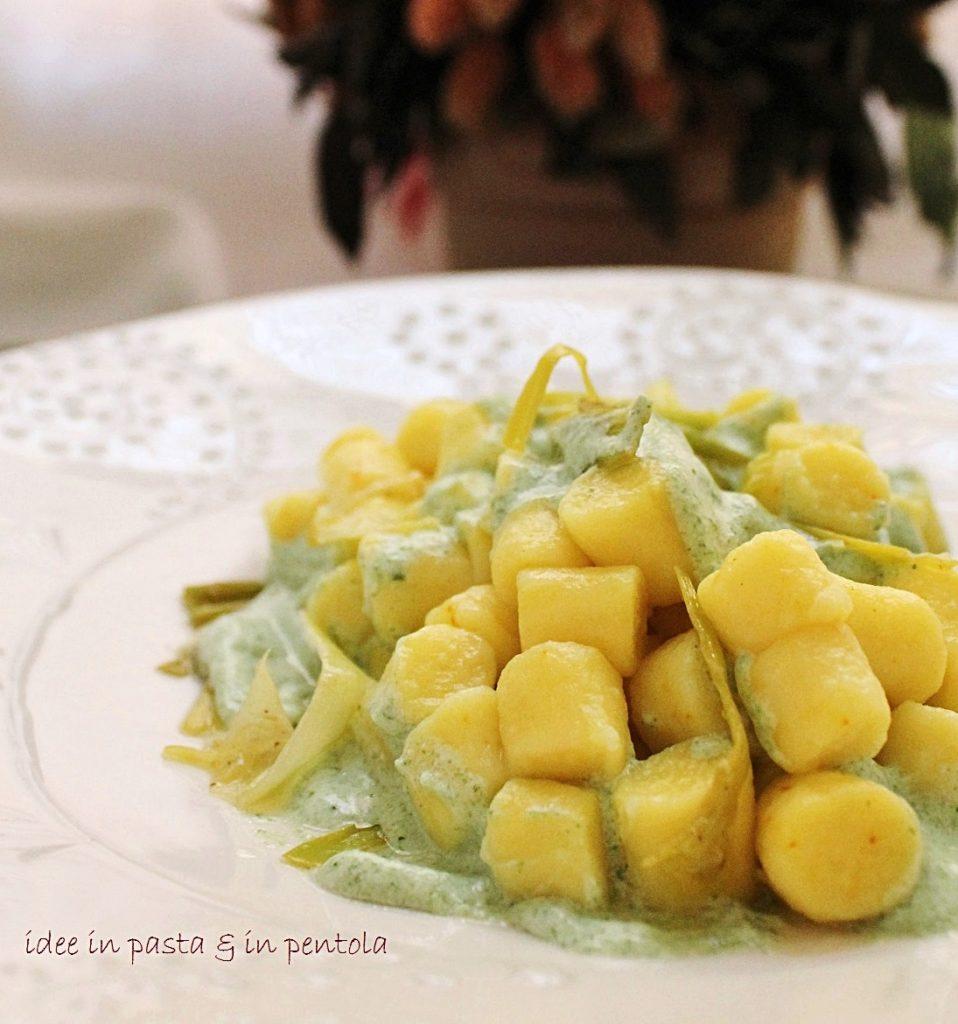 gnocchetti di ricotta allo zafferano effetto mimosa