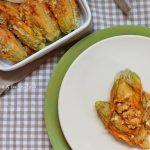 Fiori di zucchina al forno con Feta e Pomodorini