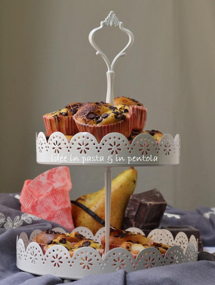 Mini Clafoutis con Pere e Cioccolato