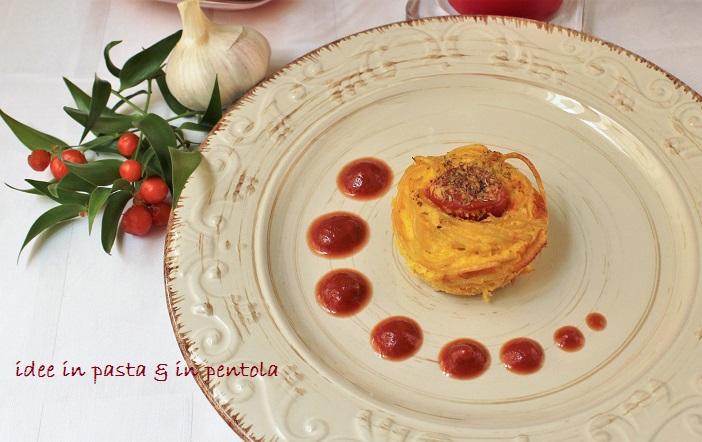 Nidi di Spaghetti con Pomodorini