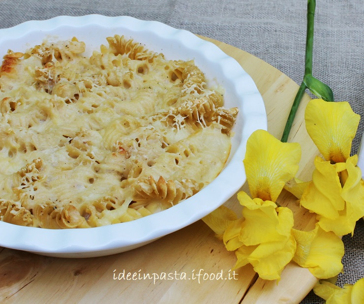 Zuppa gratinata di Fusilli e Pecorino