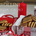 Frollini a righe vaniglia e cacao