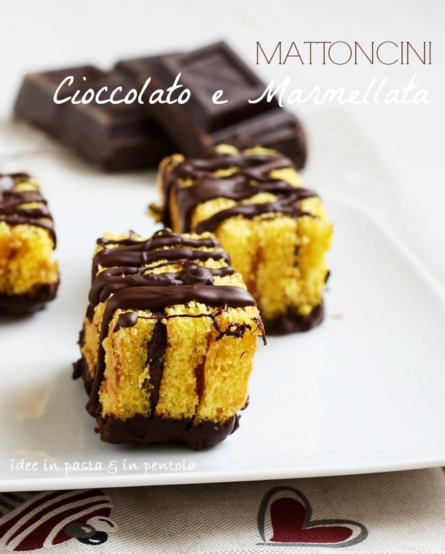 Mattoncini al cioccolato e marmellata