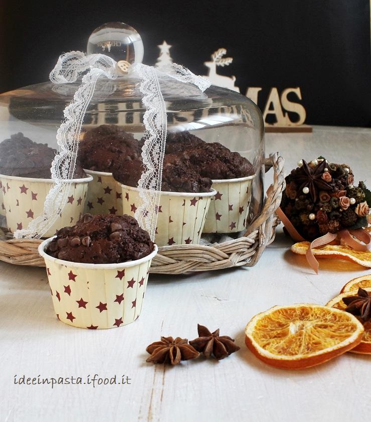 Muffin doppio cioccolato con arancia e cardamomo