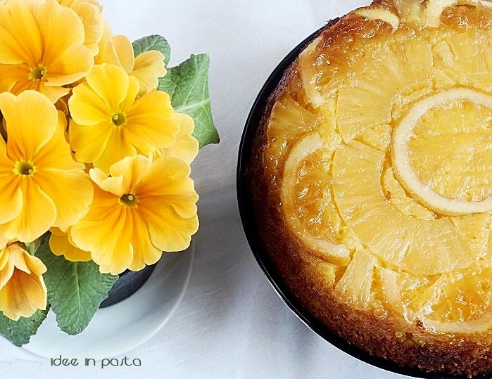 Torta rovesciata al Limone, Ananas e Cocco