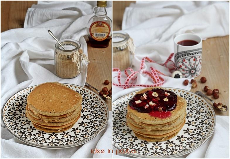 ricetta pancakes con grano saraceno
