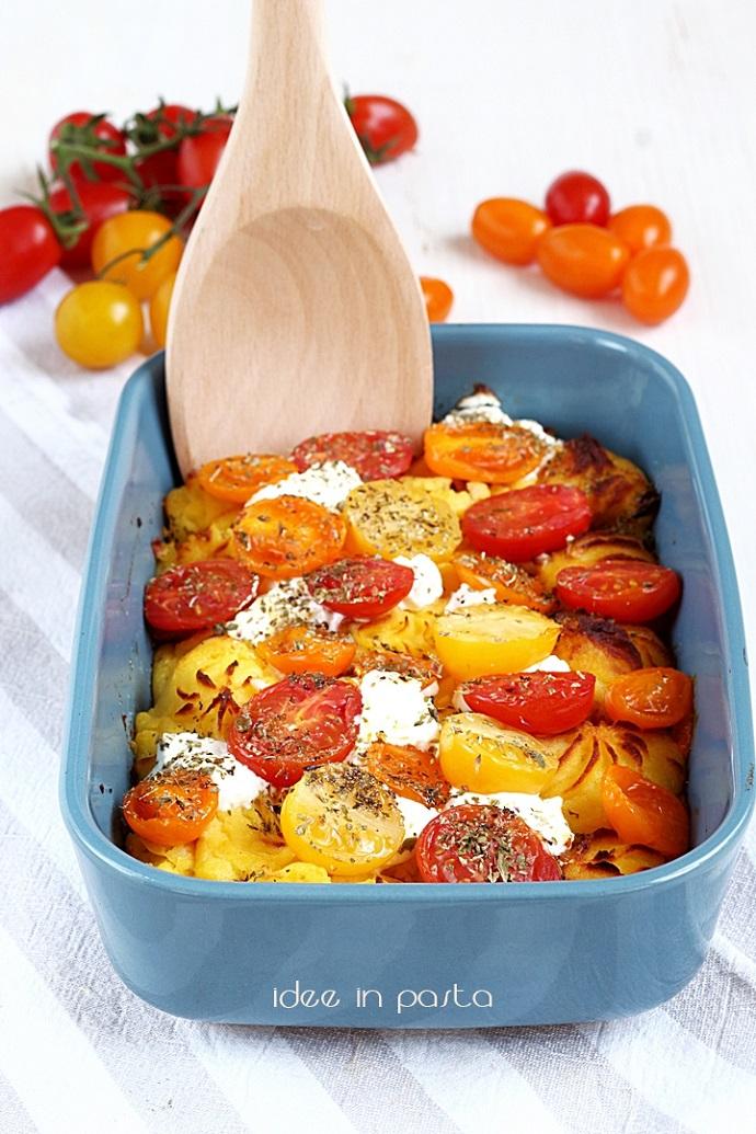 Purè al forno con Pomodorini e Ricotta
