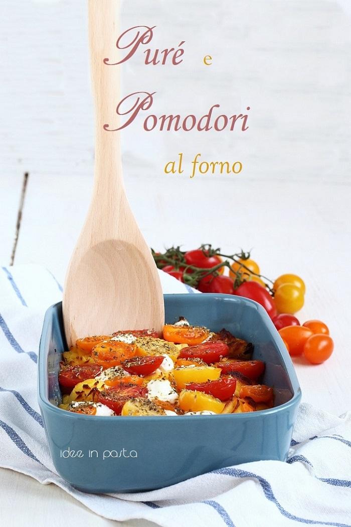 purè al forno con pomodorini