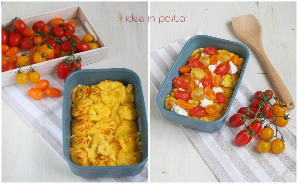 Purè al forno con pomodori
