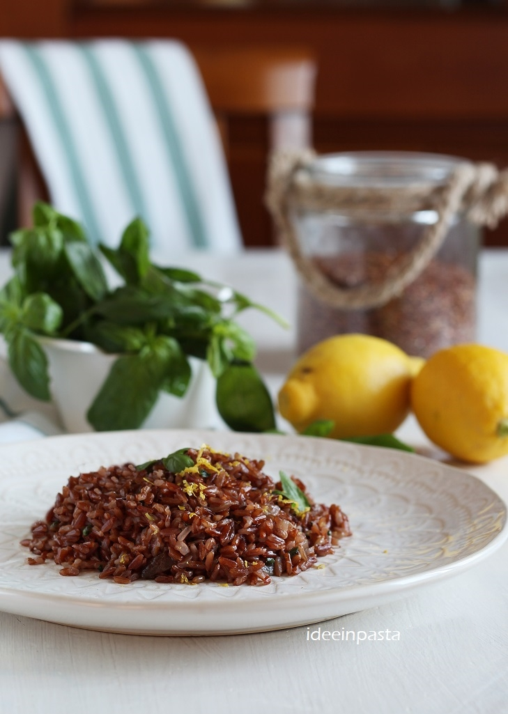 riso rosso al basilico e limone