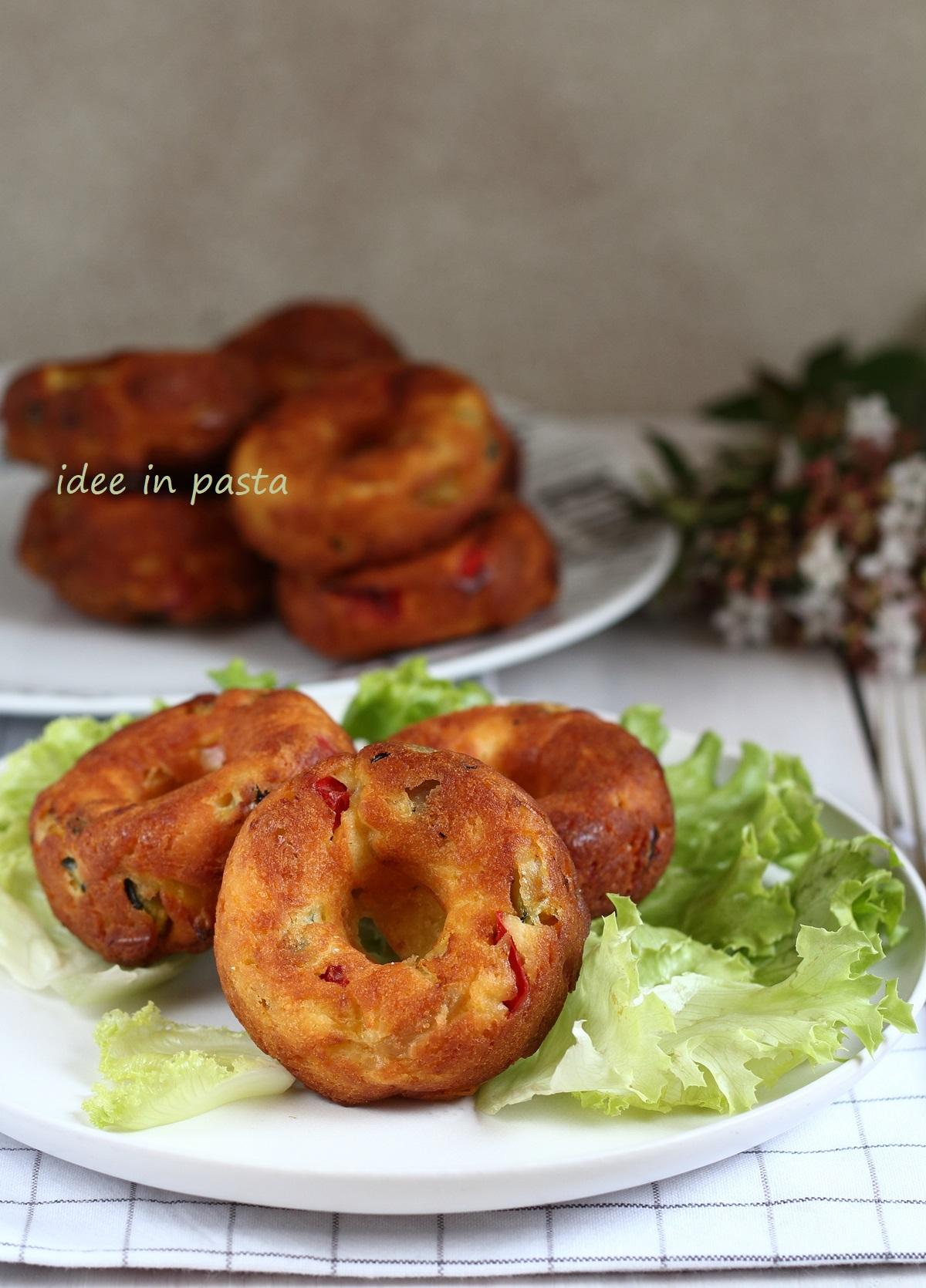 Ciambelline salate con verdure