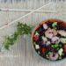 riso venere tiepido con verdure e gamberetti