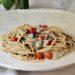 Spaghetti con sardine e crema di fagioli, tutte scatolette