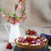 crostata cioccolato e lamponi